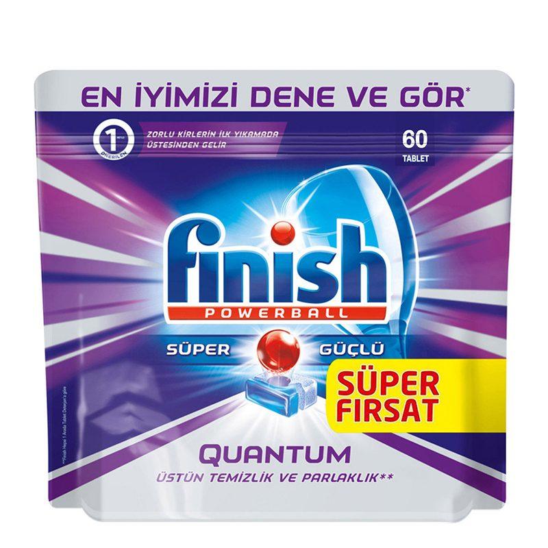 قرص ماشین ظرفشویی 60تایی فینیش مدل FINISH Quantum Powerball