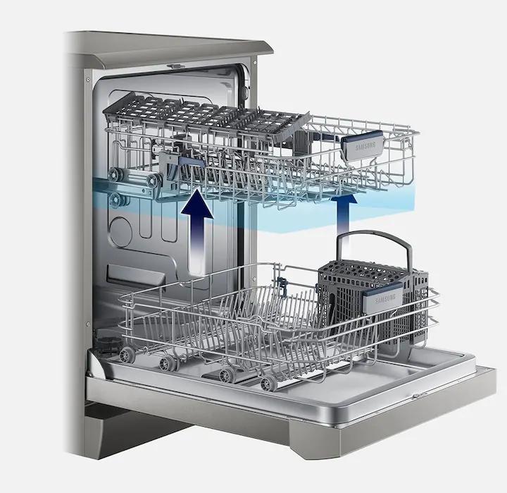 تغییر در ارتفاع سبد طبقه دوم ظرفشویی samsung